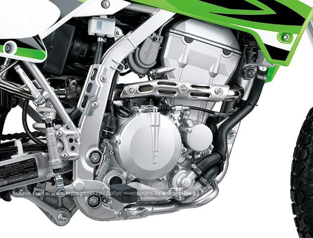 Двигатель Kawasaki KLX250 без кика