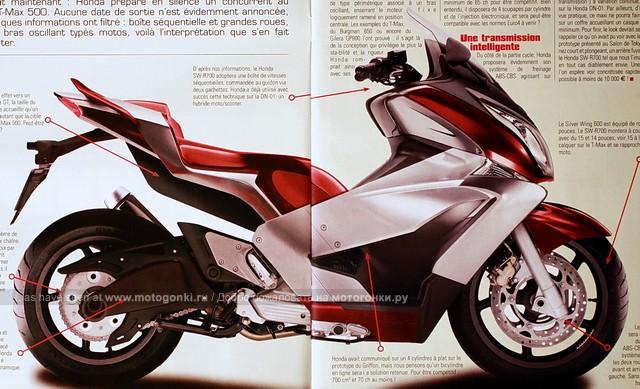 Honda готовит ассиметричный ответ Yamaha T-Max - SW-R700