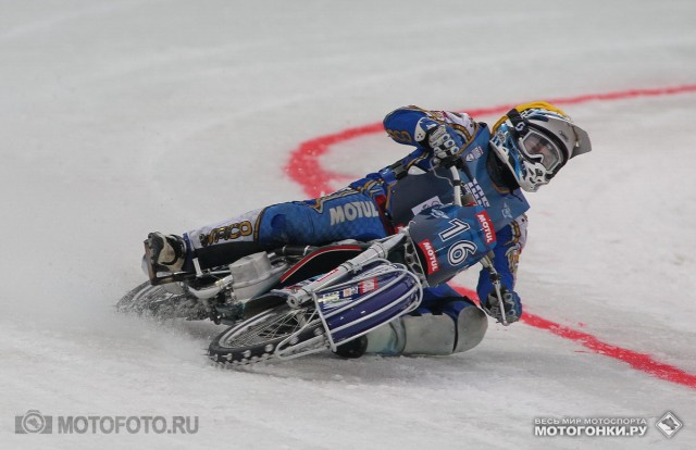 FIM Ice Speedway Gladiators 2015 RD1 Krasnogorsk: Nikolay Krasnikov #16 by wildcard - 100% result today!