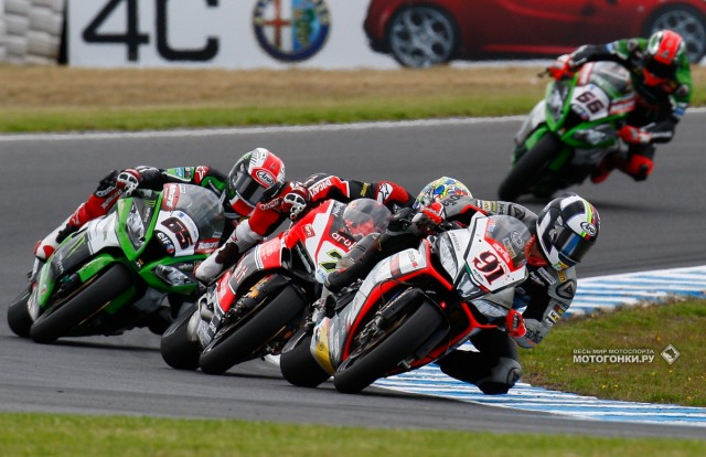 WSBK 2015 - 1st round - Phillip Island: Haslam leads 2nd heat