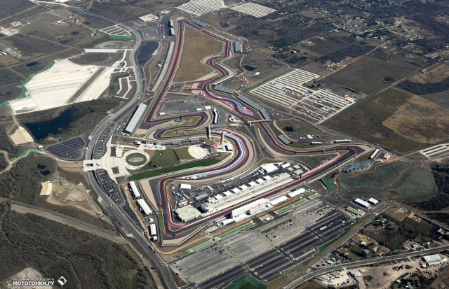 MotoGP - Вид на Circuit of the Americas с вертолета