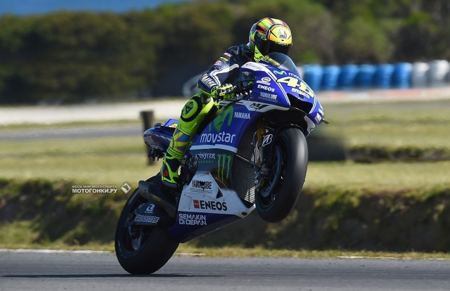 Валентино Росси (Movistar Yamaha Factory) в Phillip Island