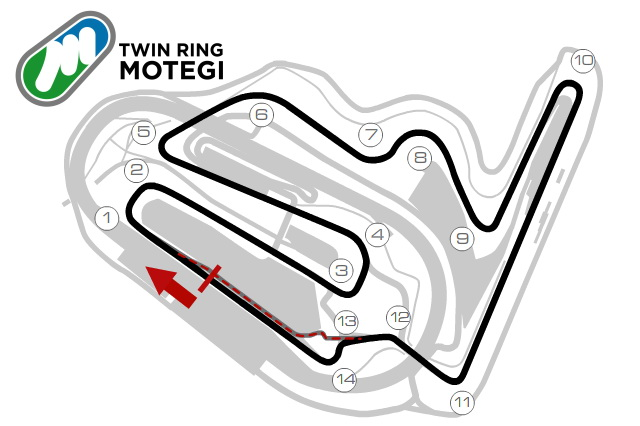 Схема Twin Ring Motegi Circuit, MotoGP