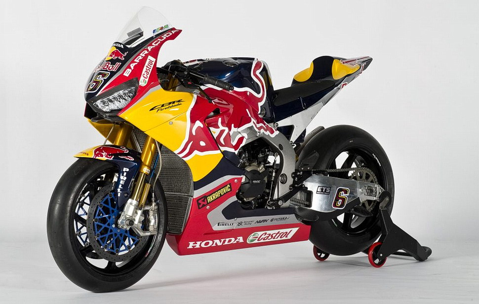 Honda CBR1000RR Fireblade SP2 заводской команды Red Bull Honda World Superbike Team