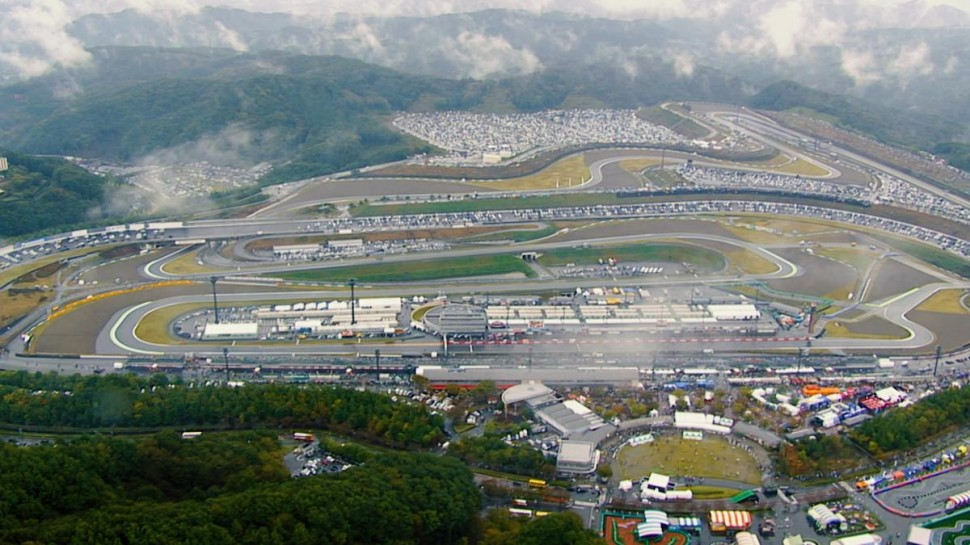 Twin Ring Motegi - вид с вертолета