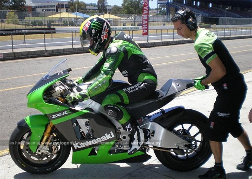 Motogp подробности тестов Kawasaki Ninja Zx Rr 2009 в австралии