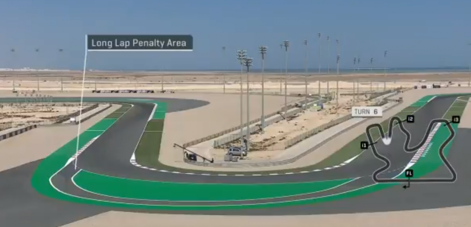 Зона Long Lap на Losail International Circuit