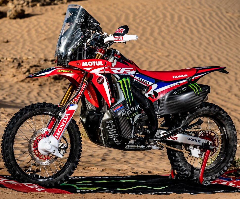 Honda CRF450 Rally заводской команды Monster Energy Team HRC