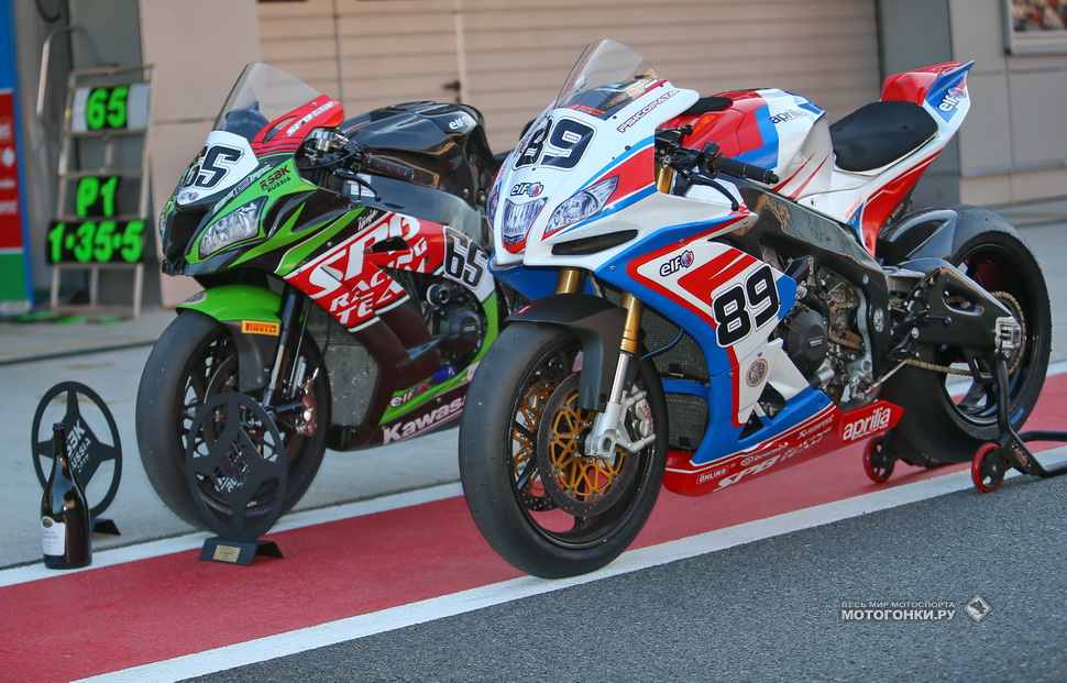 Техника SPB Racing Team: Aprilia RSV4 RF EVO и Kawasaki ZX-10RR SBK