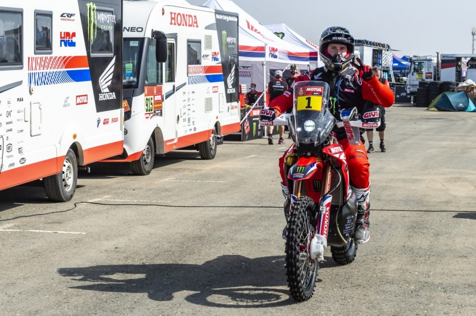 Победитель Дакара 2020 года - Рики Брабек, Monster Energy Honda Team