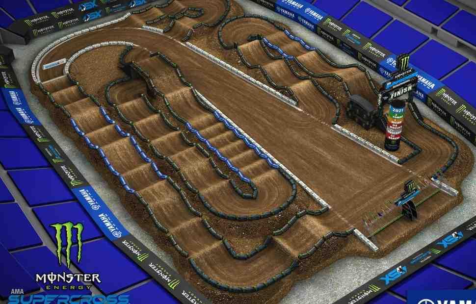 AMA Supercross: Видео - анимация трассы Indy 2