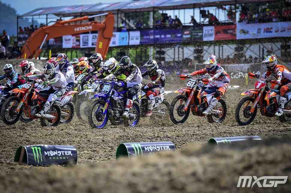 Мотокросс: вторые заезды Гран-При Индонезии MXGP/MX2