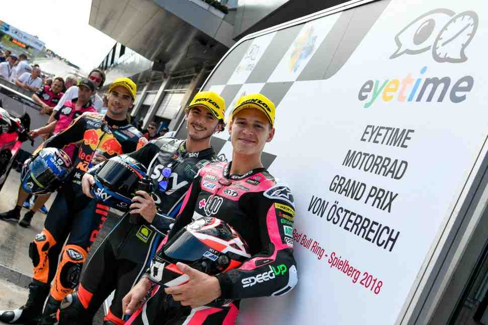 Moto2: «Великолепная шестерка» оккупировала первые линии стартовой решетки Гран-При Австрии