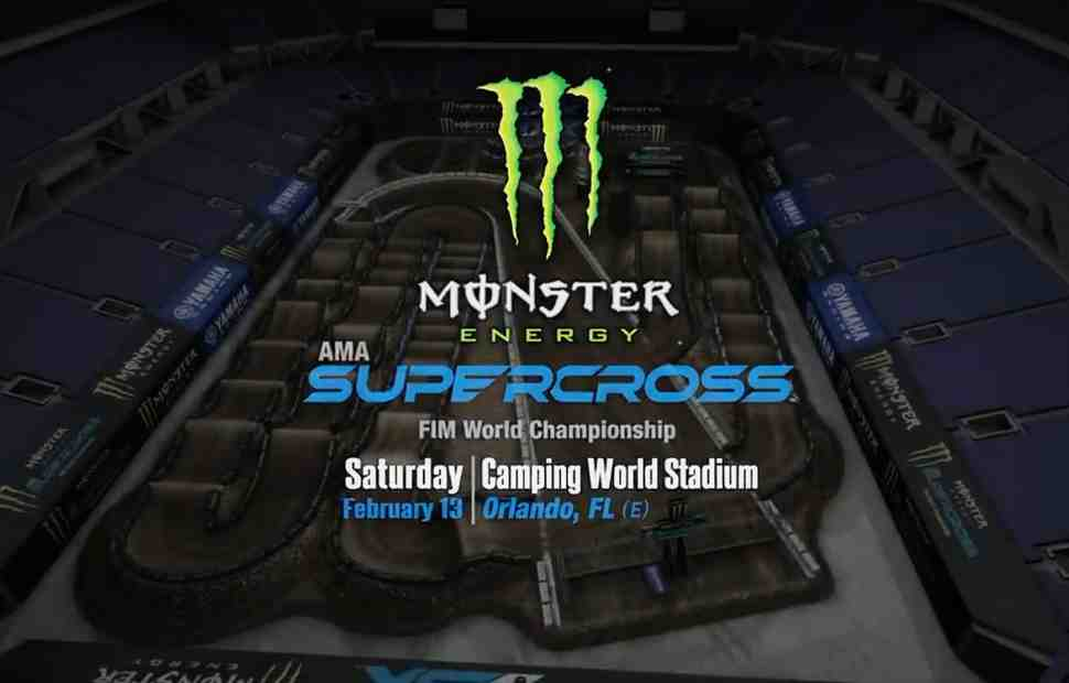 AMA Supercross: анимация трека в Орландо
