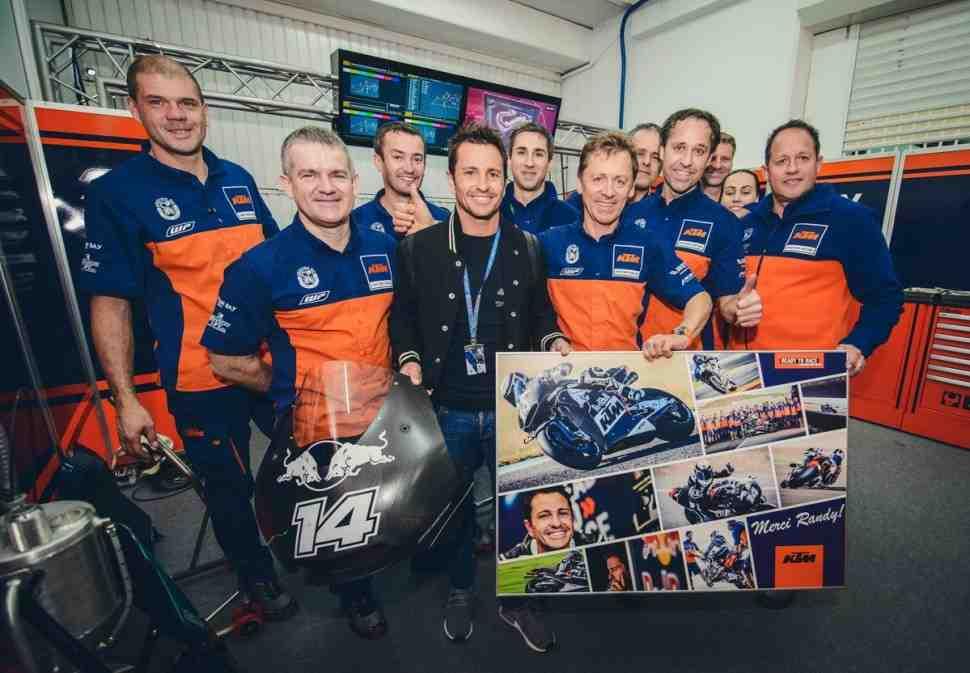 MotoGP: Ренди Де Пюнье вступает в команду разработки KTM RC16