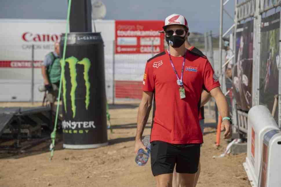 Мотокросс MXGP: Митч Эванс травмировался в Гран-При Испании