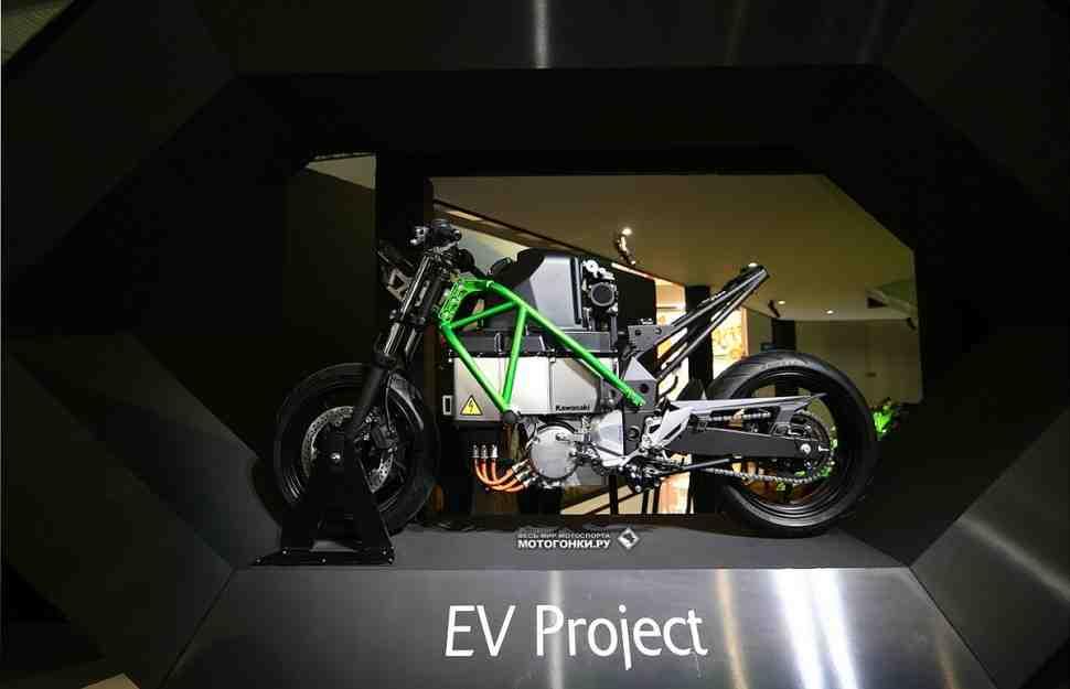 Компания Kawasaki опубликовала подробности о своем электромотоцикле EV Project
