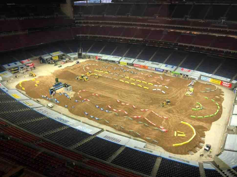 AMA Supercross: анимация трека первого этапа в Хьюстоне (H1)