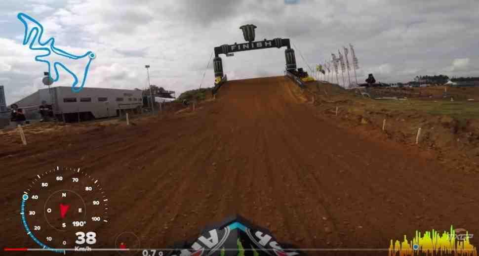 Мотокросс: видео с Всеволодом Брыляковым - круг по трассе Гран-При Португалии MXGP