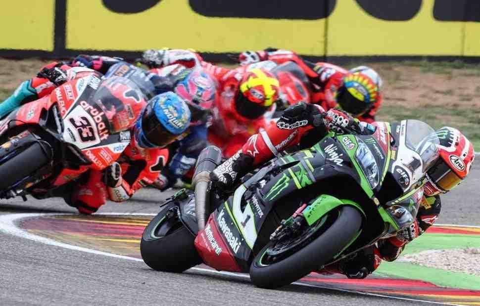 Рэй выиграл субботнюю гонку AragonWorldSBK, три Ducati устроили битву за место на подиуме