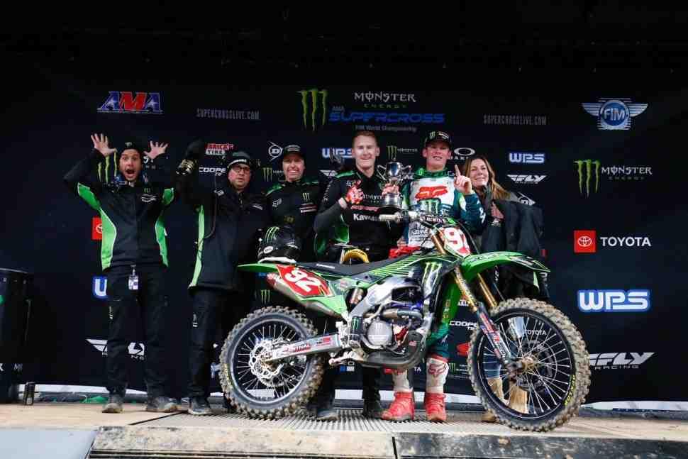 Supercross 250SX West: Адам Сиансиаруло и Kawasaki в шаге от титула - победа в Денвере