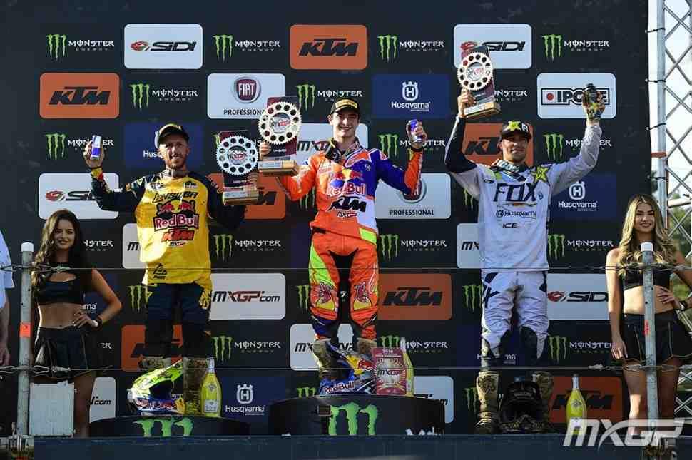 Мотокросс: результаты Гран-При Латвии и протокол чемпионата Мира MXGP/MX2 после 7 этапов