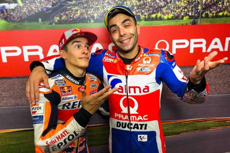 MotoGP: Новая стратегия помогла Маркесу вырвать поул-позицию Гран-При Германии у Петруччи