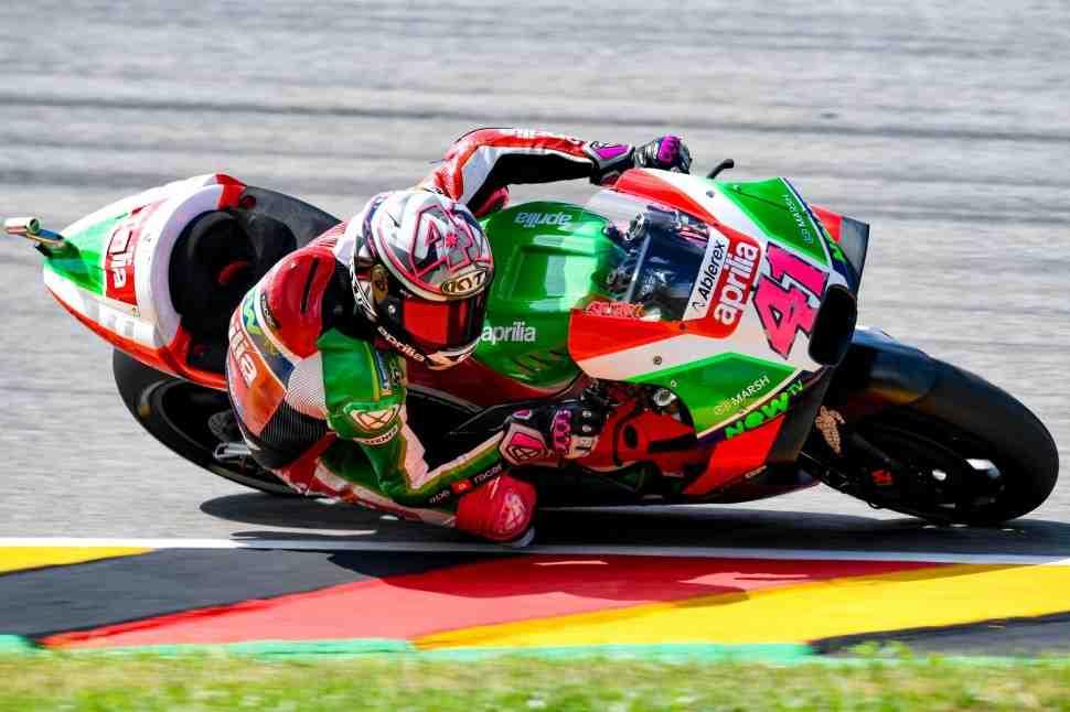 MotoGP: Алеш Эспаргаро покидает Гран-При Германии после падения на warm-up