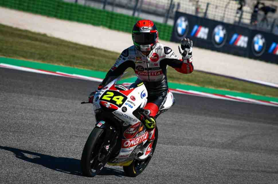 SIC58 Squadra Corse пишет историю Moto3 Misano World Circuit: победа в Гран-При Сан-Марино!