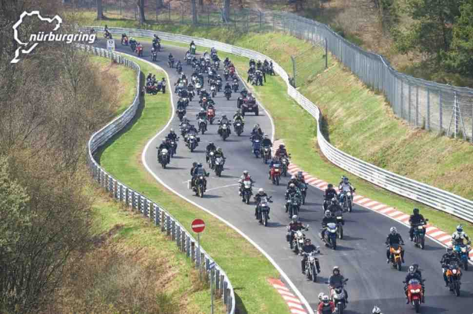 15000 байкеров открыли мотосезон в Nurburgring