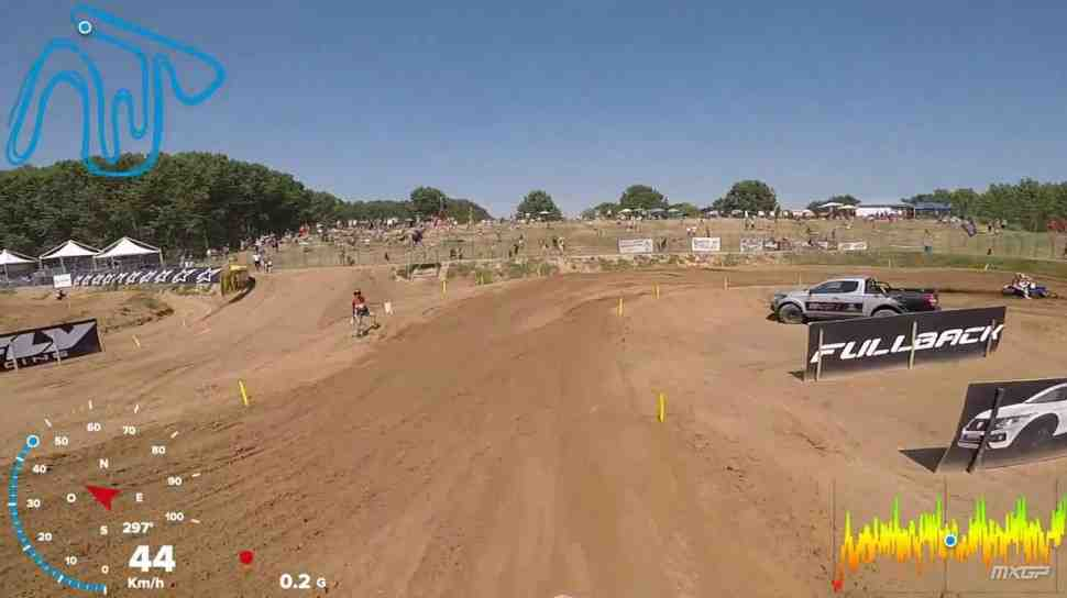 Мотокросс: круг по трассе MXGP Ломбардии - видео