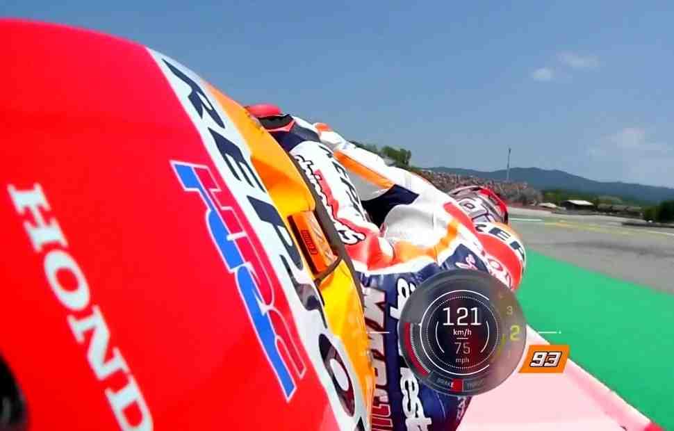 Новое чудесное спасение Марка Маркеса в MotoGP: видео с FP4 Гран-При Каталонии во всех ракурсах