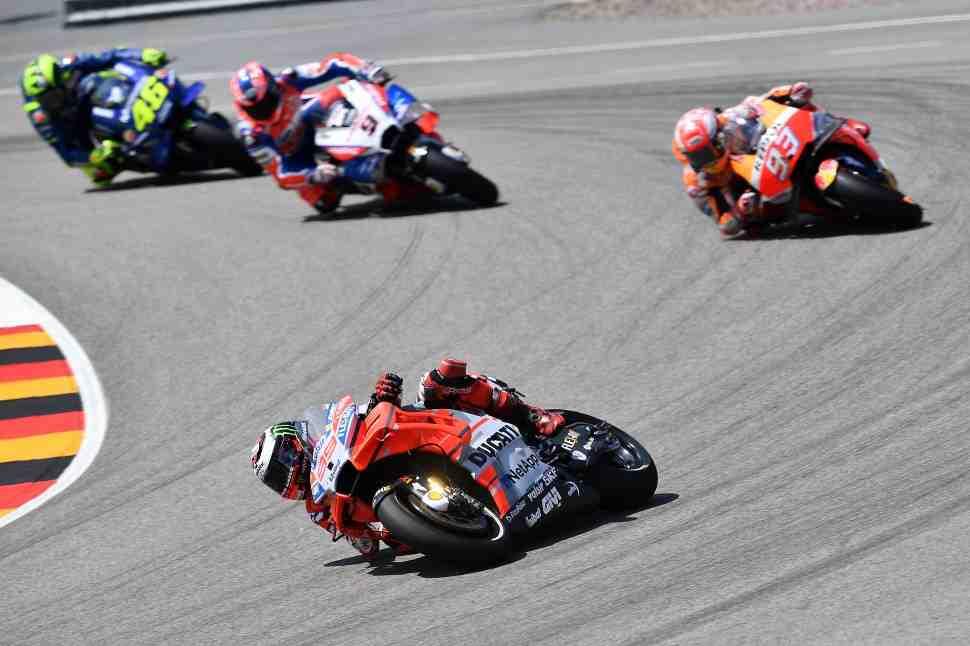 MotoGP: Лоренцо нарушил баланс, пытаясь нащупать держак