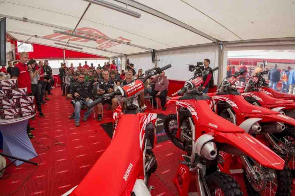 Гран-При Нидерландов MXGP: Honda представила кроссачи CRF, включая новинку CRF250RX 2019