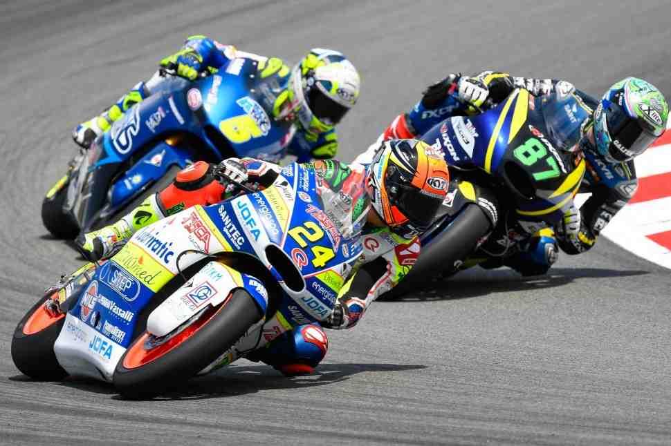 Moto2: Корси наказан за инцидент с Оливерой на финише Гран-При Каталонии