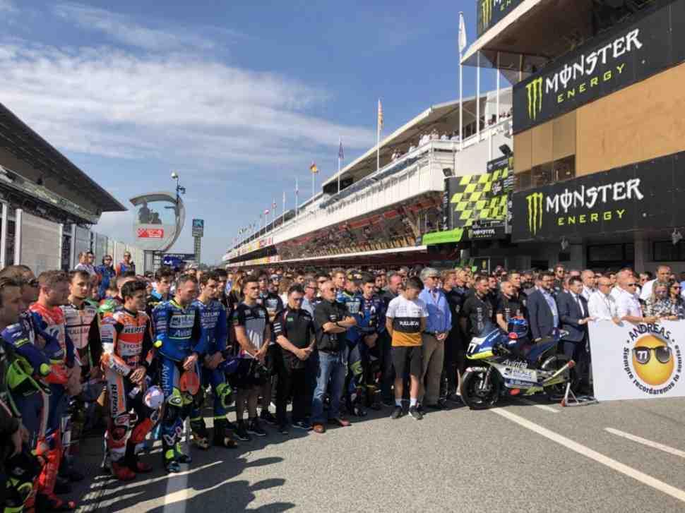 MotoGP: Каталония почтила память Андреаса Переса