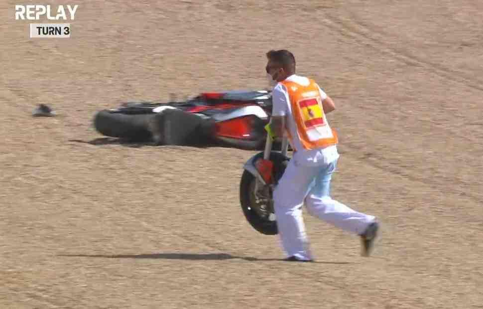 Moto2: у MV Agusta Стефано Марци развалилась вилка в ходе FP1