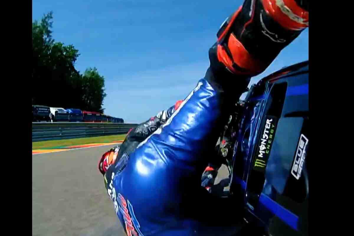 Страшный сон MotoGP на Sachsenring: Видео - Фабио Куартараро грохнулся в Водопаде!
