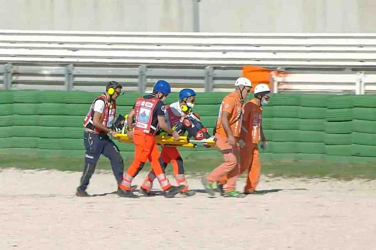 Три больших аварии стали причиной красных флагов на FP3 Гран-При Сан-Марино в классе Moto3