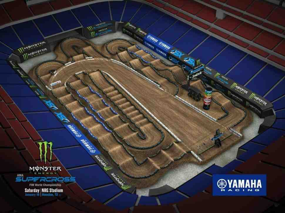 AMA Supercross: анимация трека для завтрашнего этапа Houston 2