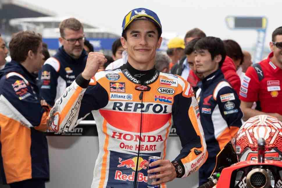 MotoGP: Марк Маркес сделал рискованную ставку ради 300-й победы Honda во Франции