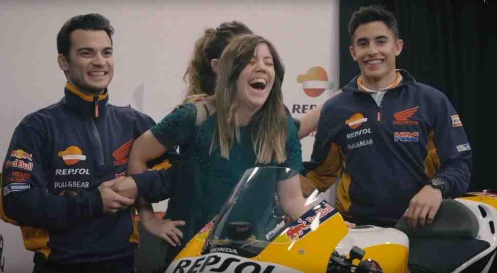 MotoGP: розыгрыш от Маркеса и Педросы - фото c сюрпризом (видео)