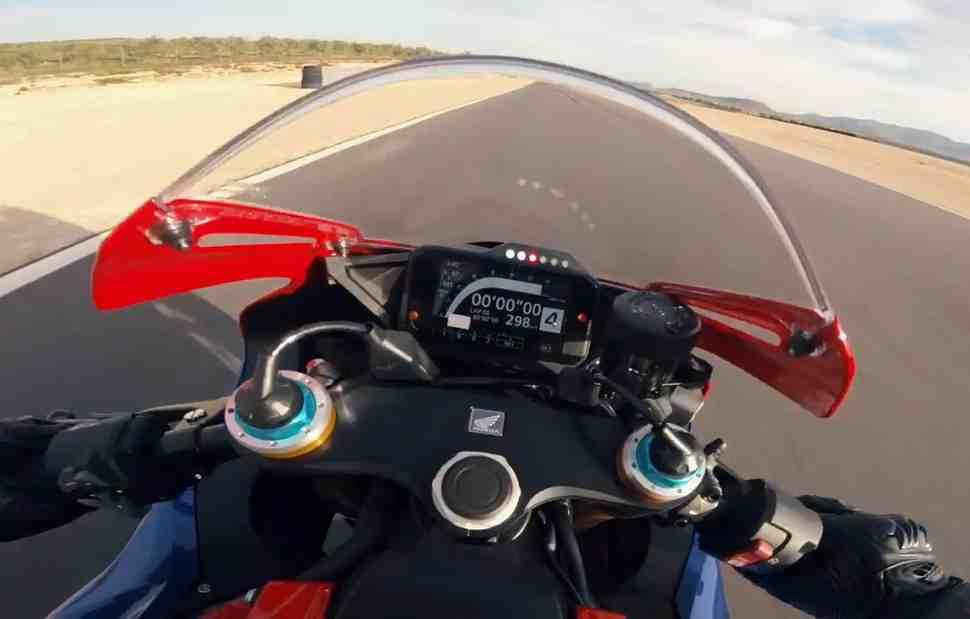 Первое бортовое видео Honda Fireblade CBR1000RR-R SP (2020): 298 км/ч не предел