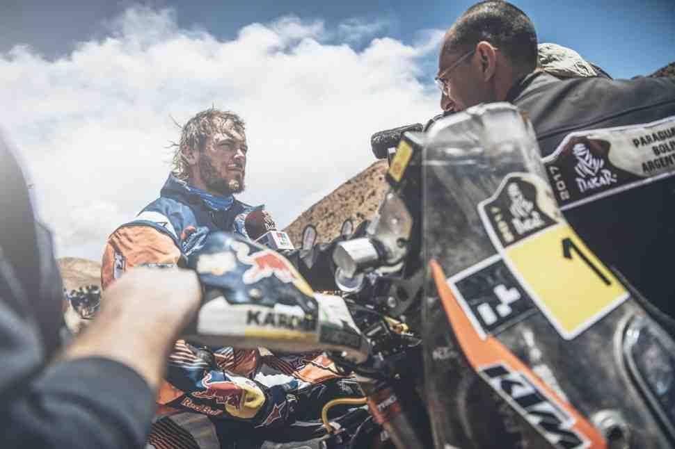 Дакар-2017: KTM теряет ферзя - Тоби Прайс сломал бедро на финише в Туписе