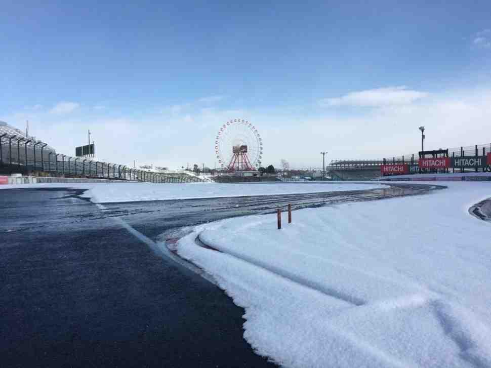 Холодная зима 2017-го: знаменитые гоночные треки мира в снегу
