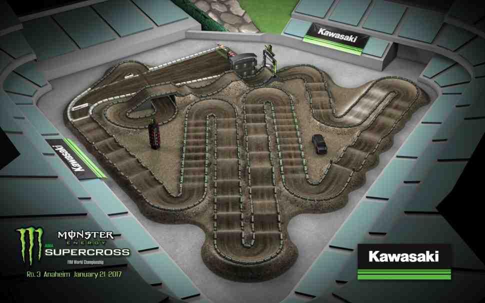Суперкросс: трасса 3-го этапа Чемпионата Мира/AMA - Anaheim-2