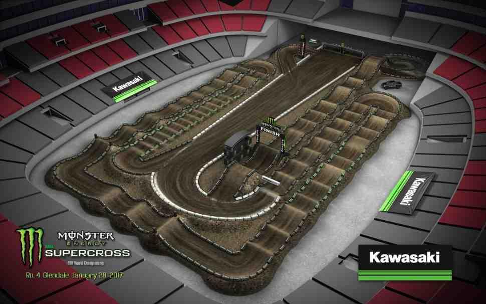 Суперкросс: трасса 4-го этапа Чемпионата Мира/AMA - Phoenix