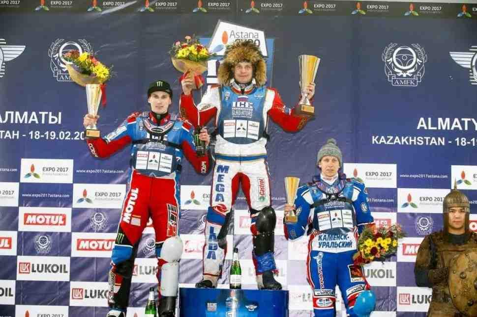 Результаты 1-го дня 3-го финала FIM Ice Speedway Gladiators, Медео