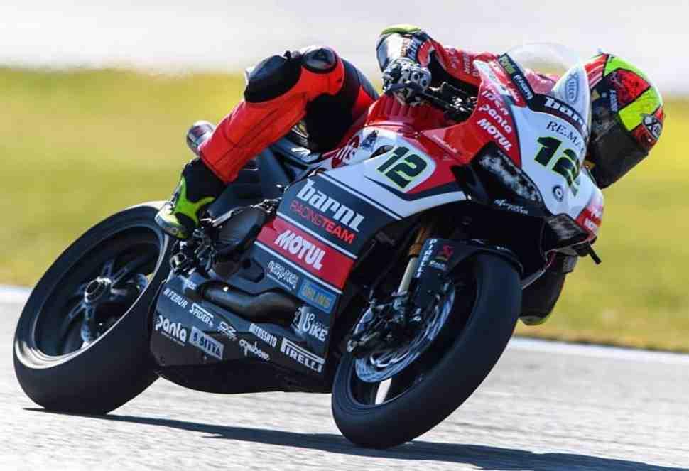 Первый день тестов WSBK в Австралии возглавил пилот частной команды Ducati