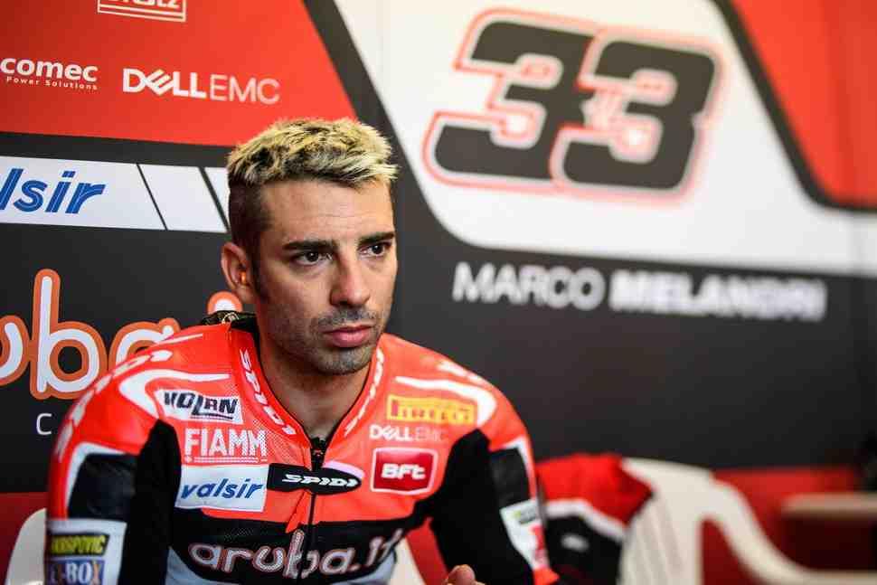 WSBK: Марко Меландри объяснил причины падения в первой гонке сезона